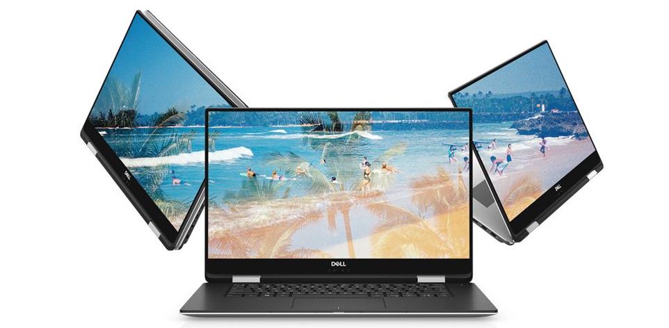 Dell XPS 15 9575 2-in-1posiada wyświetlacz o przekątnej 15,6 cala, który wyświetla obraz o parametrach Full HD