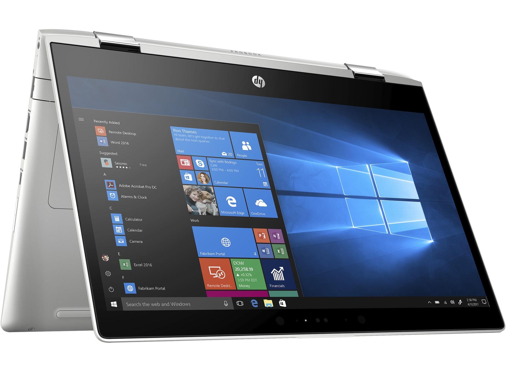 LaptopHP ProBook x360 440jest przede wszystkim niewielki i lekki, a to sprawia, że będzie się go nie tyle łatwo obsługiwało w trybie tabletu, ale także łatwo będzie z nim podróżować