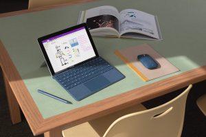 Microsoft Surface Gowyposażony jest w baterię wytrzymującą do 9 godzin pracy